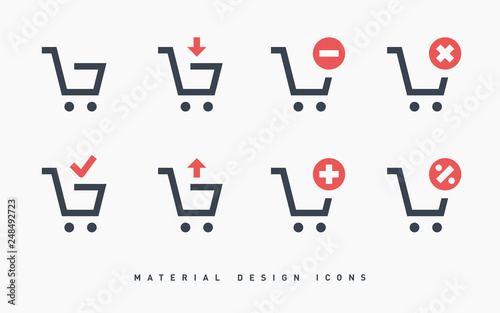 Fotografia shopping cart icon