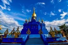 Wat Rong Suea Ten, Blue Temple, Chiang Rai, Thailand