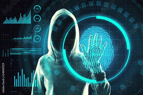 Fotografía  Data theft and criminal concept