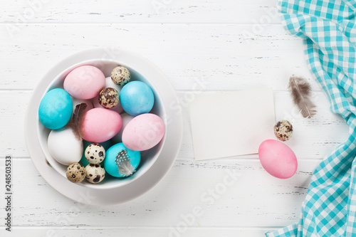 Photo  Easter greeting card