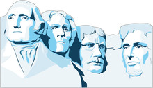 Mount Rushmore Memorial Vector...