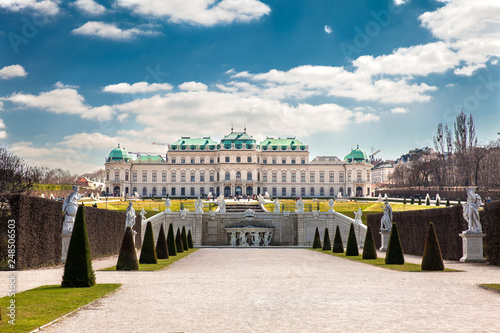 Upper Belvedere palace in a beautiful early spring day Canvas Print