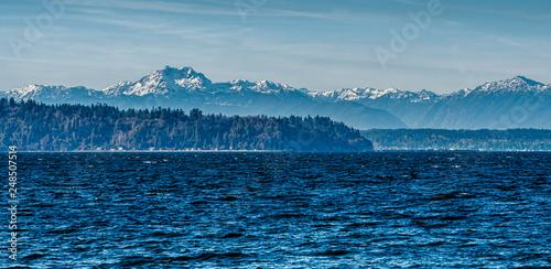 Montage in der Fensternische Blaue Nacht Mountain Range Scene 4