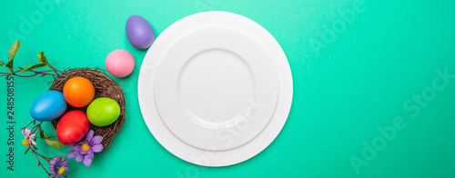 Easter table, place setting Canvas Print
