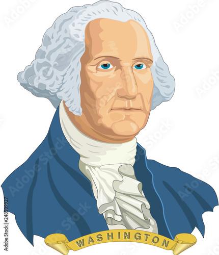 Fototapeta George Washington Vector Illustration