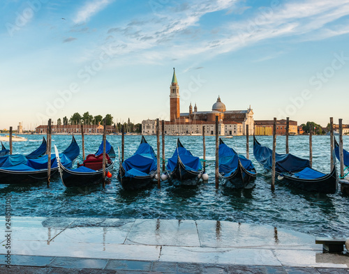 Spoed Foto op Canvas Venice Panorama. Panoramic cityscape image of Venice, Italy