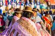 Leinwanddruck Bild - Peruvian people