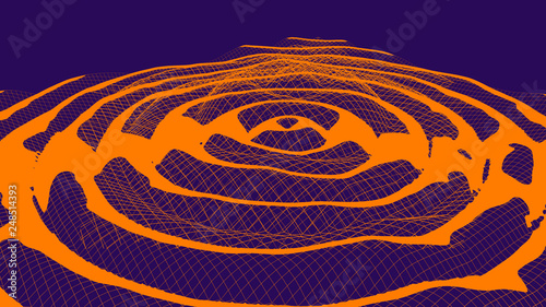 a Gravitational waves abstract duotone illustration Tablou Canvas