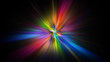 canvas print picture - Colorful abstract Star burst light explosion background