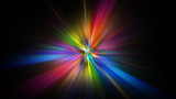 Fototapeta Rainbow - Colorful abstract Star burst light explosion background