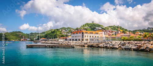 Fotografia, Obraz  Panoramic view of port of Grenada, Caribbean.