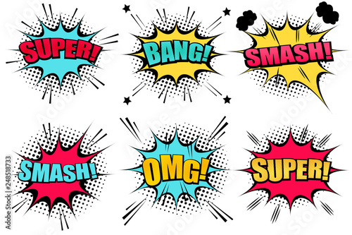 Comic speech bubbles collection - 248518733