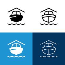 Boat Storage Icon Set