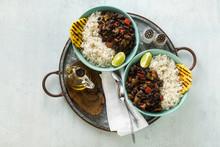 Cuban Rice And Black Bean Dish...