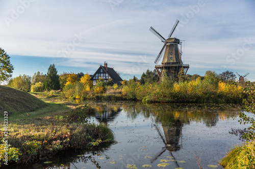 Beautiful reflection of Mills in Gifhorn, Germany Canvas-taulu