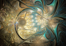 Abstract Fractal Background, Texture, Fractal Spiral, Fractal Art