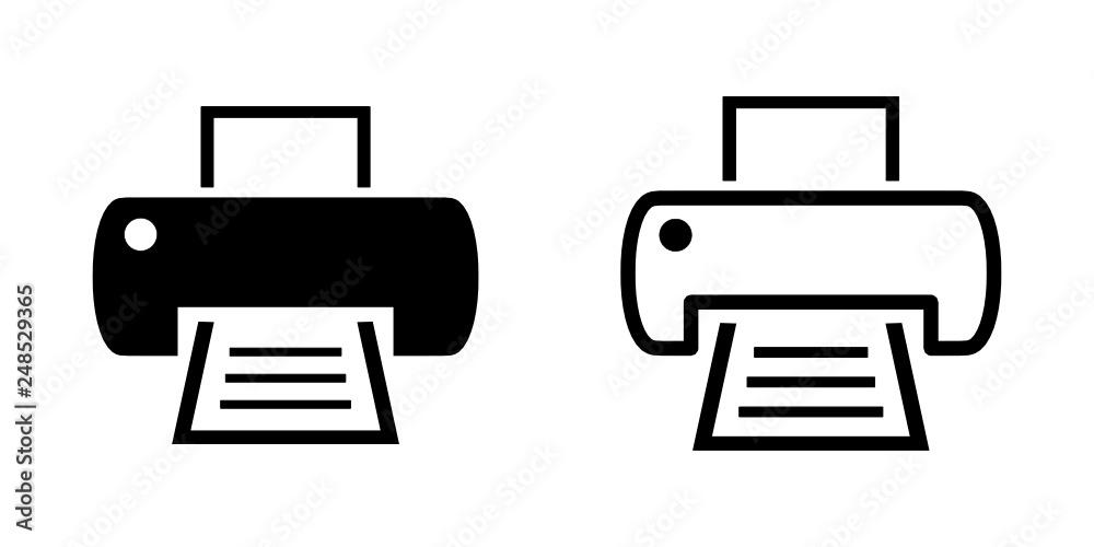 Fototapeta drukarka ikona
