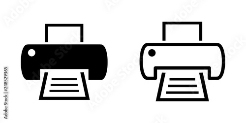 Obraz drukarka ikona - fototapety do salonu