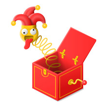 Surprise Box With Jester Toy I...