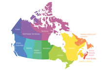 Map Of Canada Divided Into 10 ...