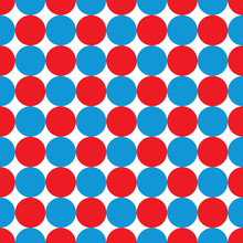 Seamless Blue And Red Dot Pattern Background