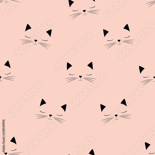 obraz PCV scandinavian cat pattern