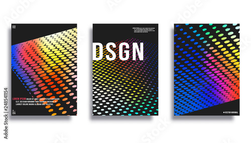 Photo  Colorful gradient halftone background for the banner, flyer, poster, cover broch