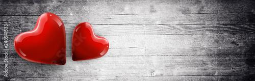 Herz und Liebe Motiv Canvas Print