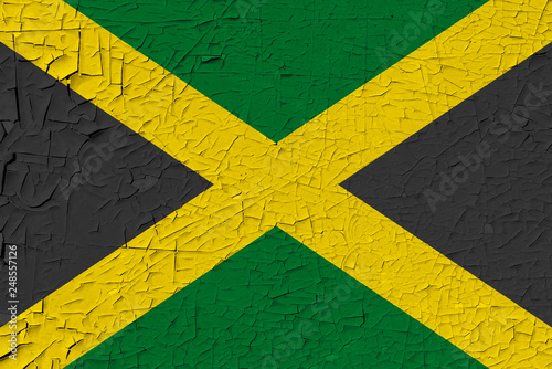 Foto  Jamaica painted flag
