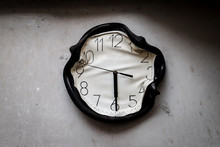 Wall Clock Burned And Melted B...