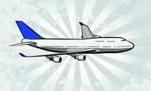 Airline Passenger Jet Vector Illustration