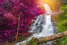 Huay Saai Leung Waterfall Is A Beautiful Waterfalls In The Rain Forest Jungle Thailand