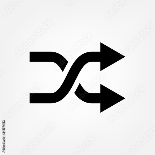 Fototapeta  Arrow shuffle icon vector random symbol for your web site design, logo, app, UI