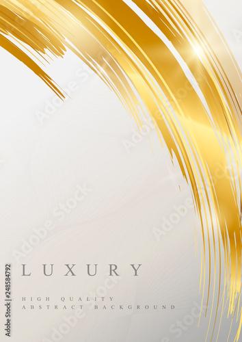 Foto auf Leinwand Abstrakte Welle Gold wave abstract background illustration