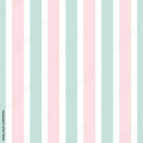 Materiał do szycia Geometric stripe seamless pattern of pink and green color.