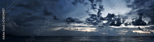 Valokuva  Cloudy sky panorama