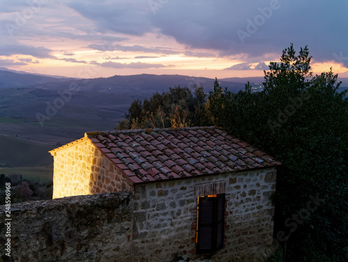 Photographie  very nice view of pienza a medieval village in val d orcia