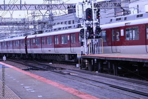 Keuken foto achterwand Foto van de dag A train running in Japan. Kintetsu train