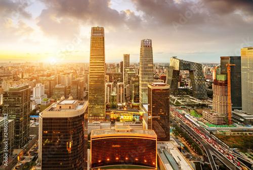 Poster Pekin Aerial view of Beijing
