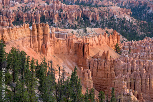 Foto landscape on the bryce canyon in the united states of america