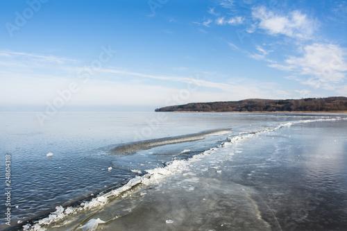 Fotografía  zima nad zatoką