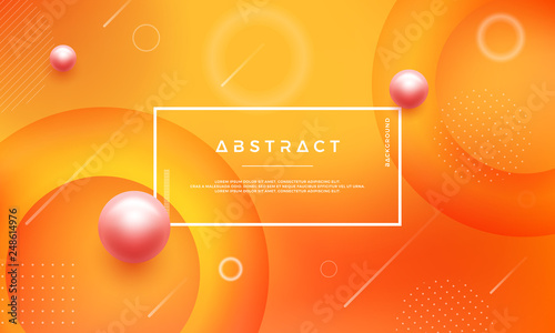 Modern Abstract Background With Mixing Yellow Orange Color