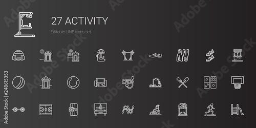 activity icons set Wallpaper Mural