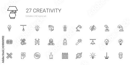 Obraz creativity icons set - fototapety do salonu