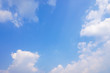 Blue sky with white clouds.Beautiful landscape background.