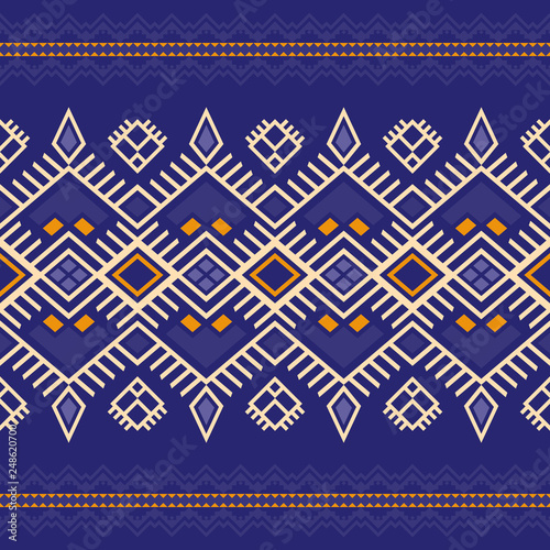 Photo Ethnic seamless pattern with Aztec, Moroccan, Berber, Mexican motives