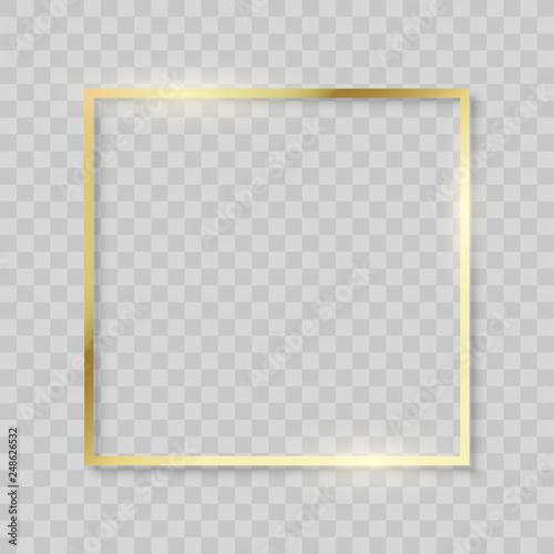 Fotografía  Gold frame, realistic golden texture borders