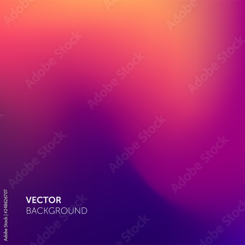 Obraz Abstract blurred gradient mesh color background. Smooth soft vector color blend gradient trendy purple background - fototapety do salonu