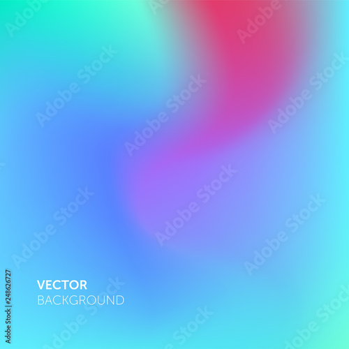 Photo  Abstract blurred gradient mesh color vector background