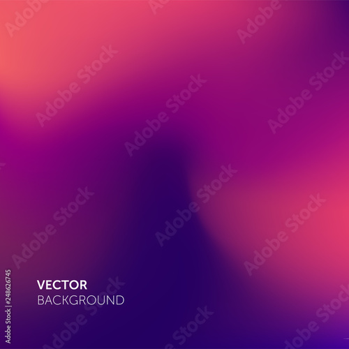 Abstract gradient mesh soft pink purple color blend trendy vector background Canvas Print